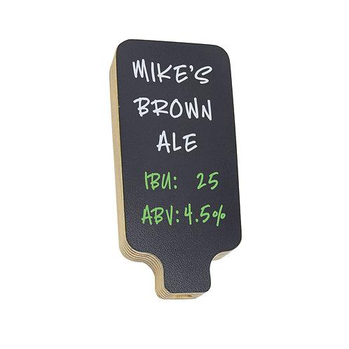 Beer Coffee Tap Handle with Black Dry-erase Chalkboard Marker Board, pine wood
