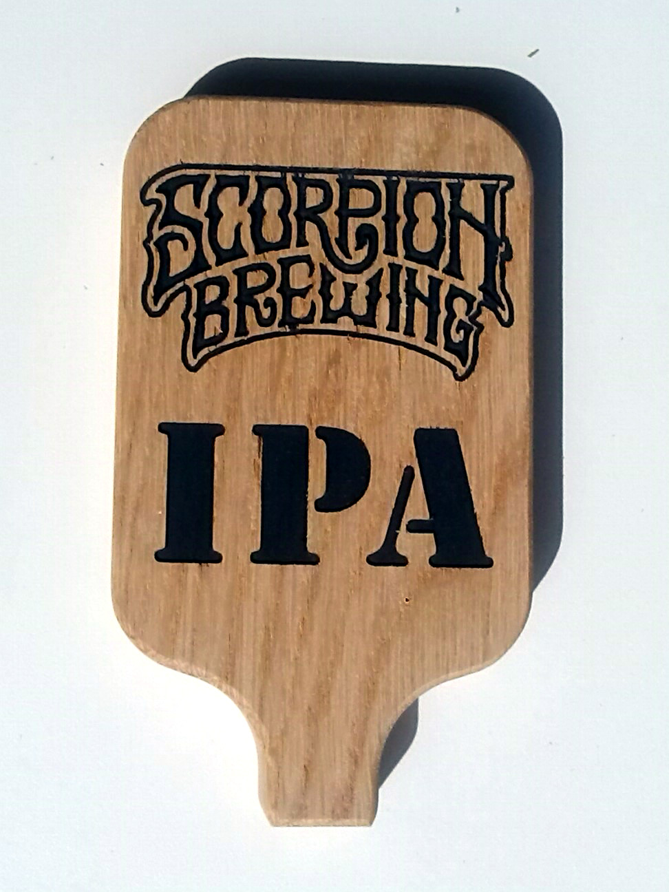 Personalized tap handle with beer style
