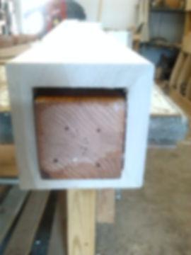 New box newel with old oak newel