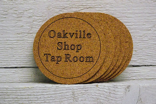 Cork coaster set of six personalized custom engraved. Great gift.