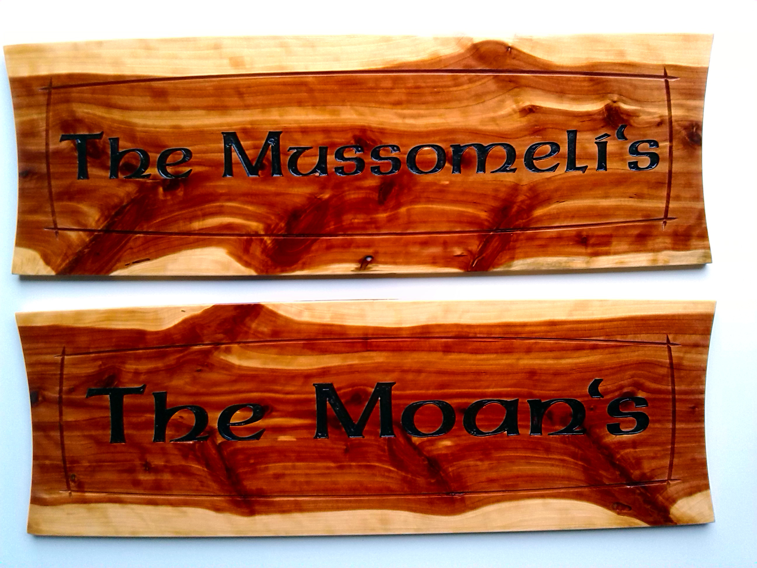 Carved bar wood sign