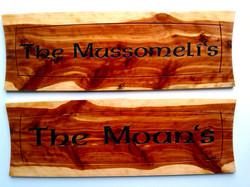 Carved bar wood sign