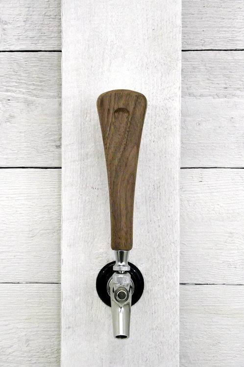 Tap handle solid Walnut beer, wine, coffee tap  7""