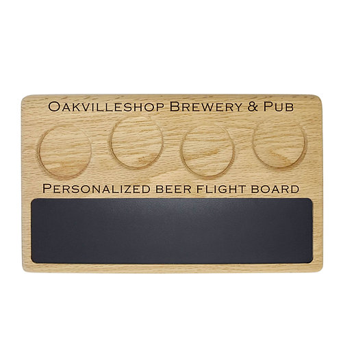 Personalized Beer flight sampler tray paddle with write-on Premium Surface board
