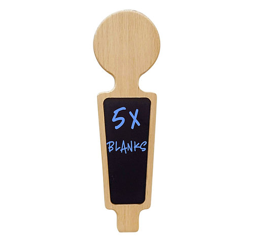 Blank beer tap handles for laser engraving 5 qty