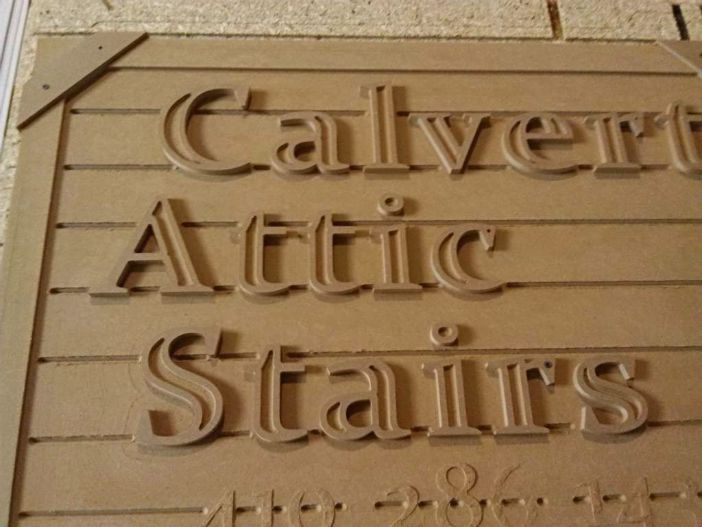 Dimensional cnc cut sign
