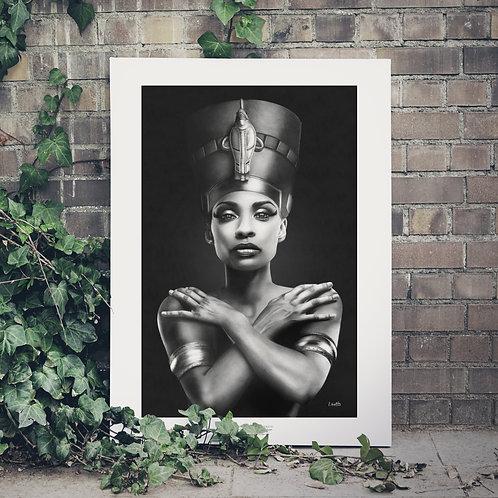 CÓPIA FINE ART - Nefertiti realista - A1 Papel especial Matt Fibre (fosco)