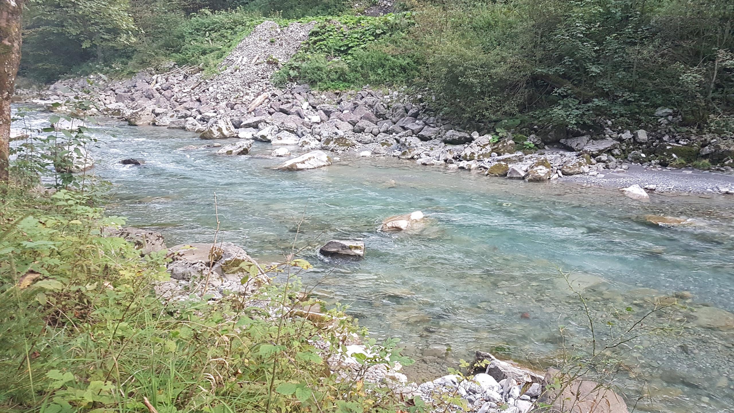 River in the Austrian camp spot