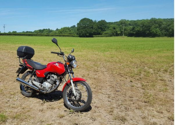 My first ride on the mighty CG 125