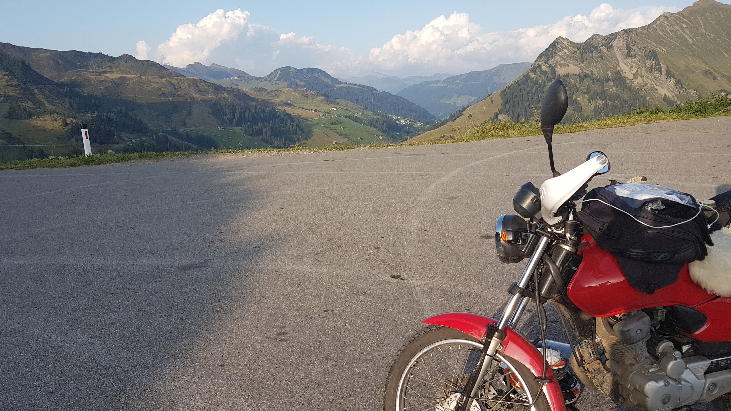 Layby at the top of the Furka pass