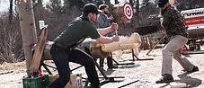 Great Canadian Lumberjacks cros cut saw