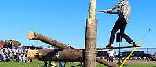 Great Canadian Lumberjacks spring board chop
