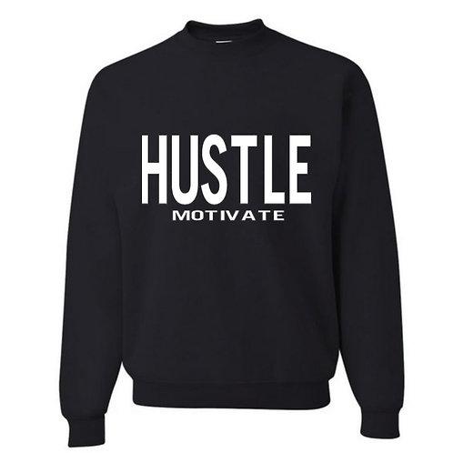 Hustle/Motivate - White Letters