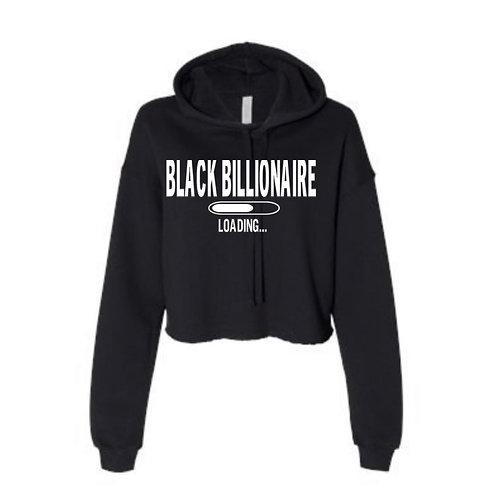 Black Billionaire Loading Cropped Hoodie