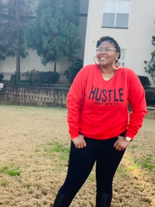 Hustle/Motivate - Black Letters (Multiple Shirt Colors Available)