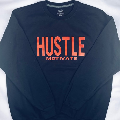 Hustle/Motivate - Red Letters (Multiple Shirt Colors Available)