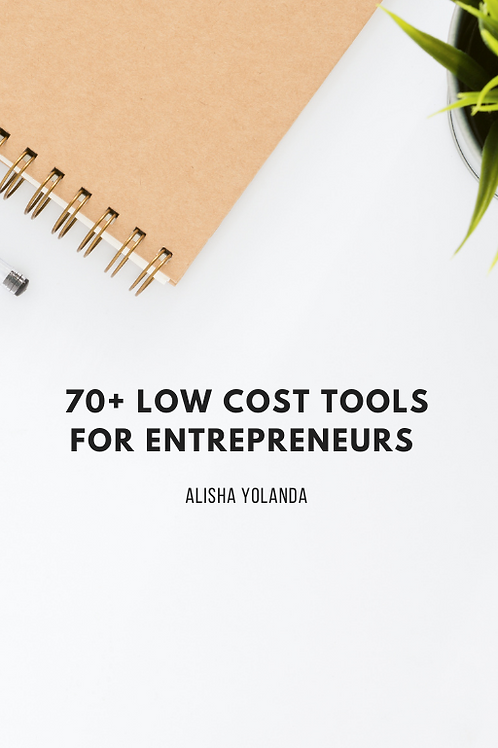 70+Low Cost Tools for Entrepreneurs
