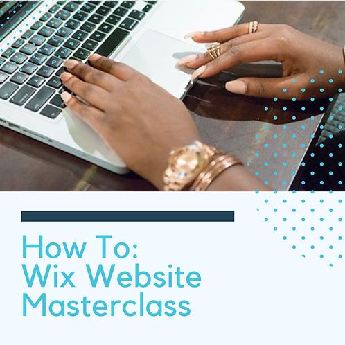 Presale - How To: Wix Masterclass