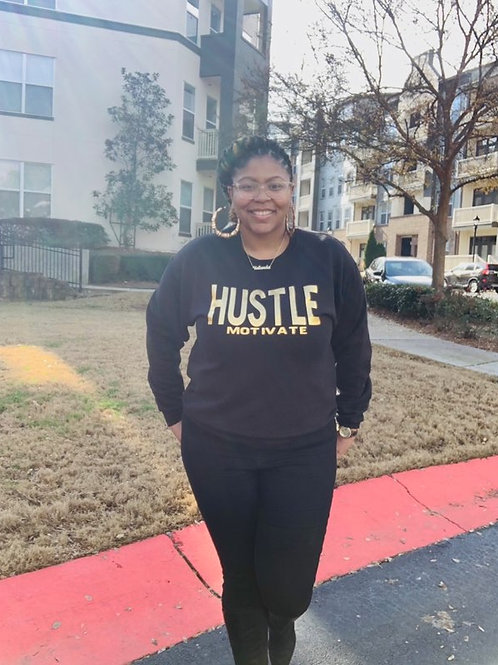Hustle/Motivate - Gold Letters
