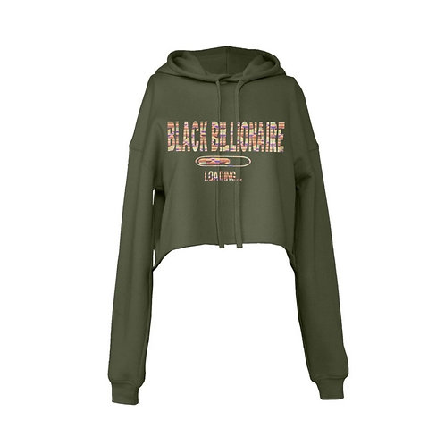 BHM Black Billionaire Loading Cropped Hoodie
