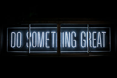 Sign  - Do Something great - white letters on a black backrground.