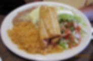 Don Chuys Chicken Burrito with rice bean