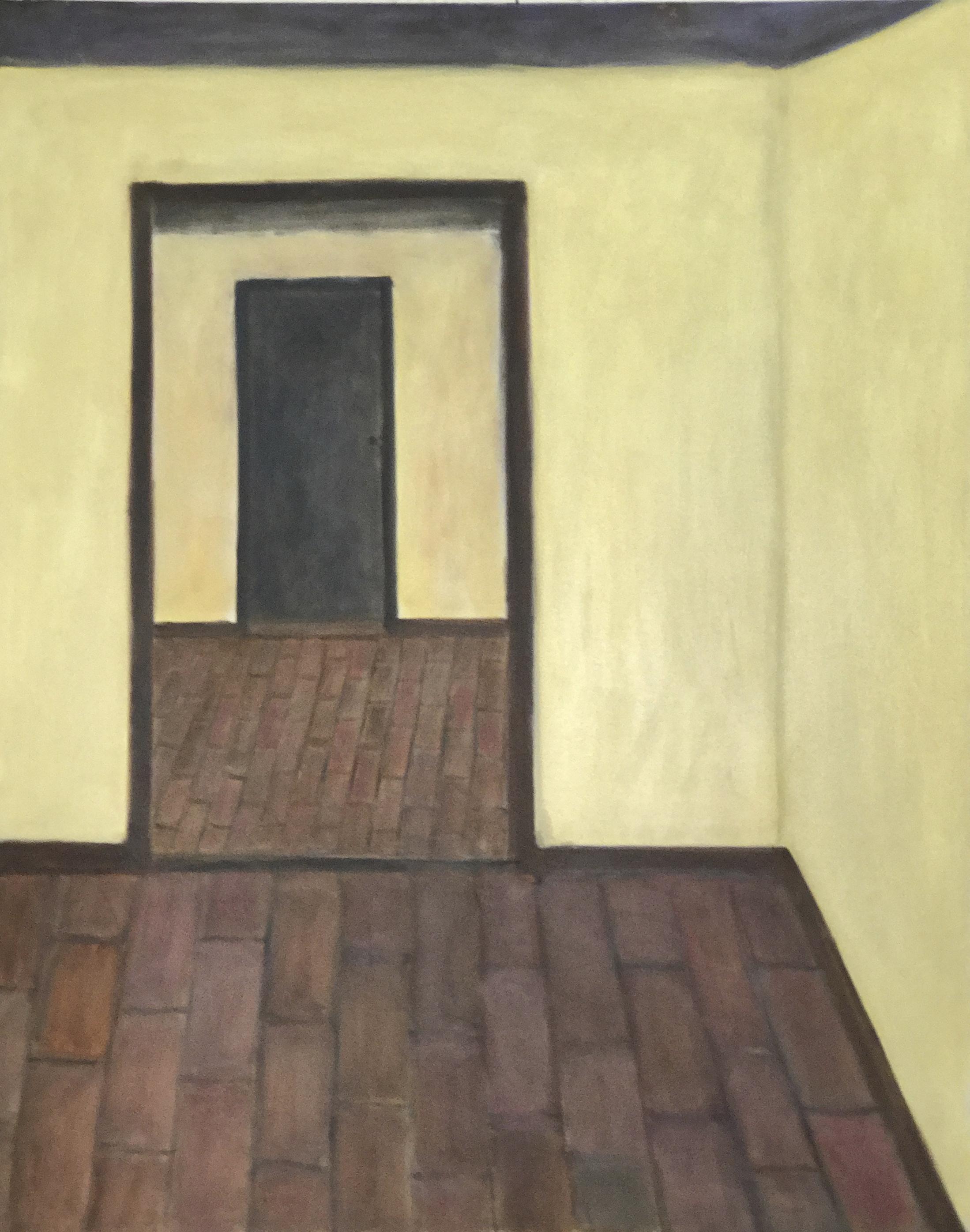 El piso de ladrillo