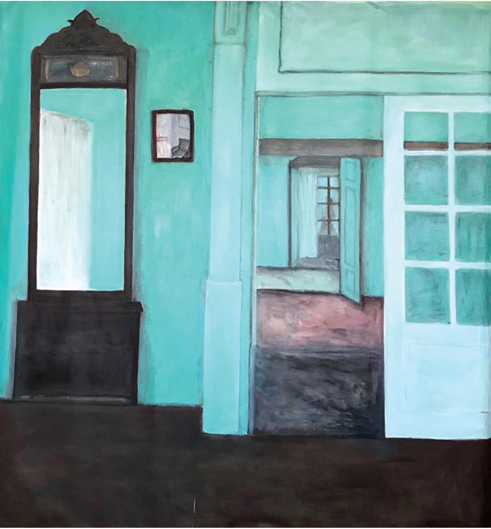 La cortina en el espejo