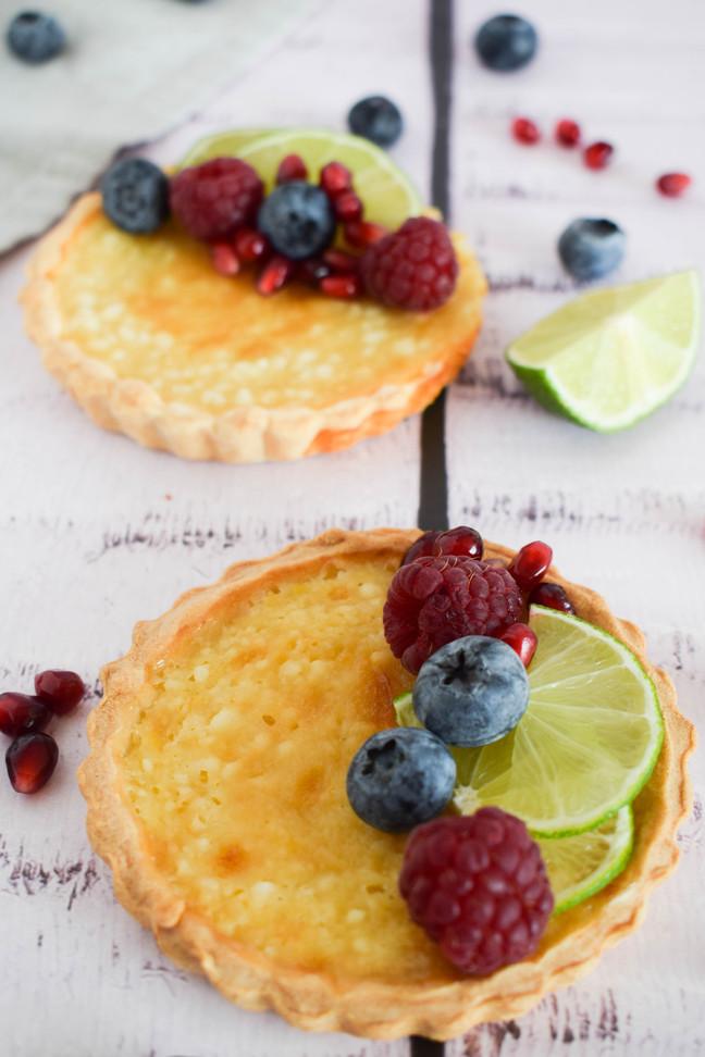 Tartaletas de queso feta y miel