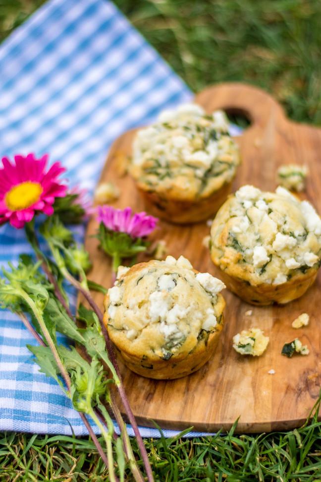 Muffins de espinaca y queso feta