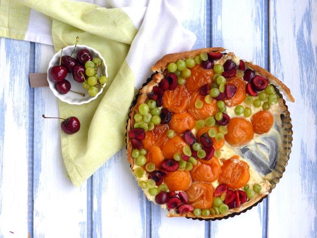 Tarta de frutas en masa philo
