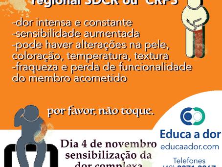 Dia de combate e conscientização da Síndrome e de Dor Complexa Regional SDCR ou CRPS