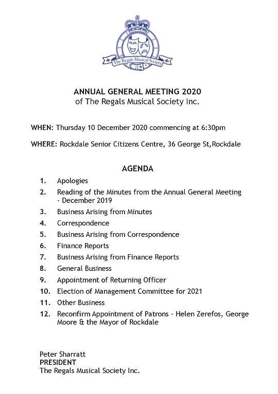 2020.12.10_Agenda_Regals_AGM_10-12-2020
