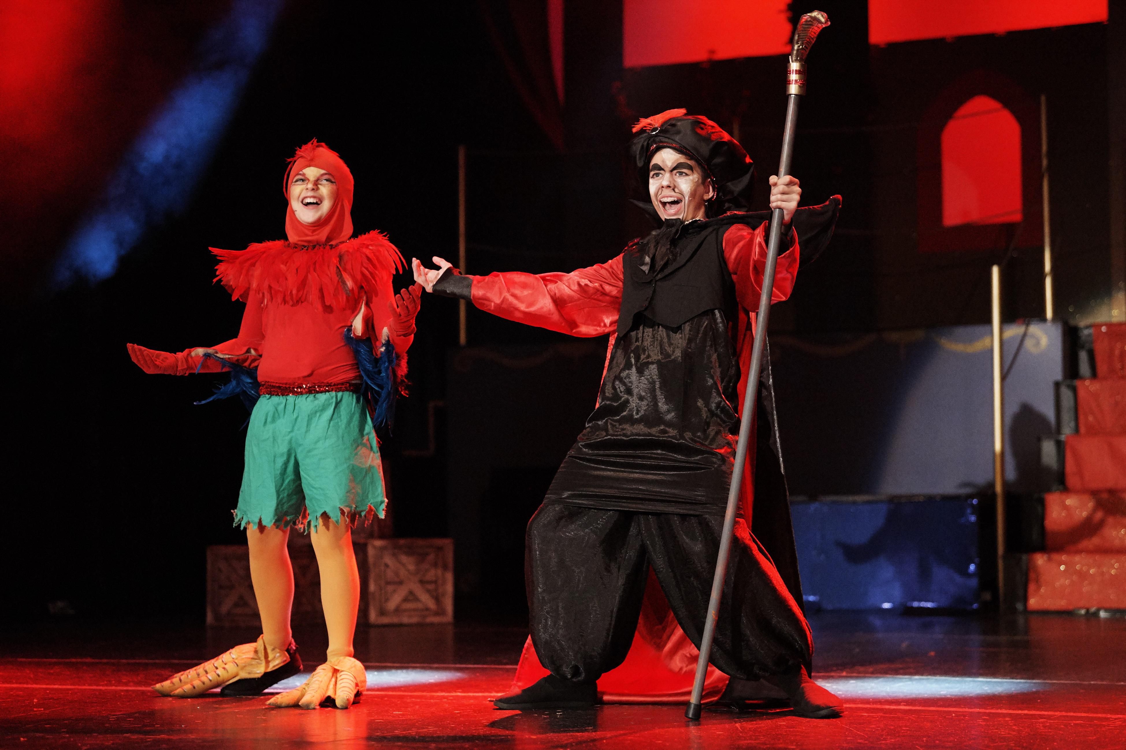 Joel Ruz (Iago) and Blake O'Mara (Jafar) Regals Aladdin Jr Genies cast DSC_8654 2