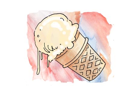 Dripping Ice Cream Cone