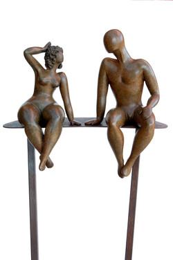 Flirt on iron stand