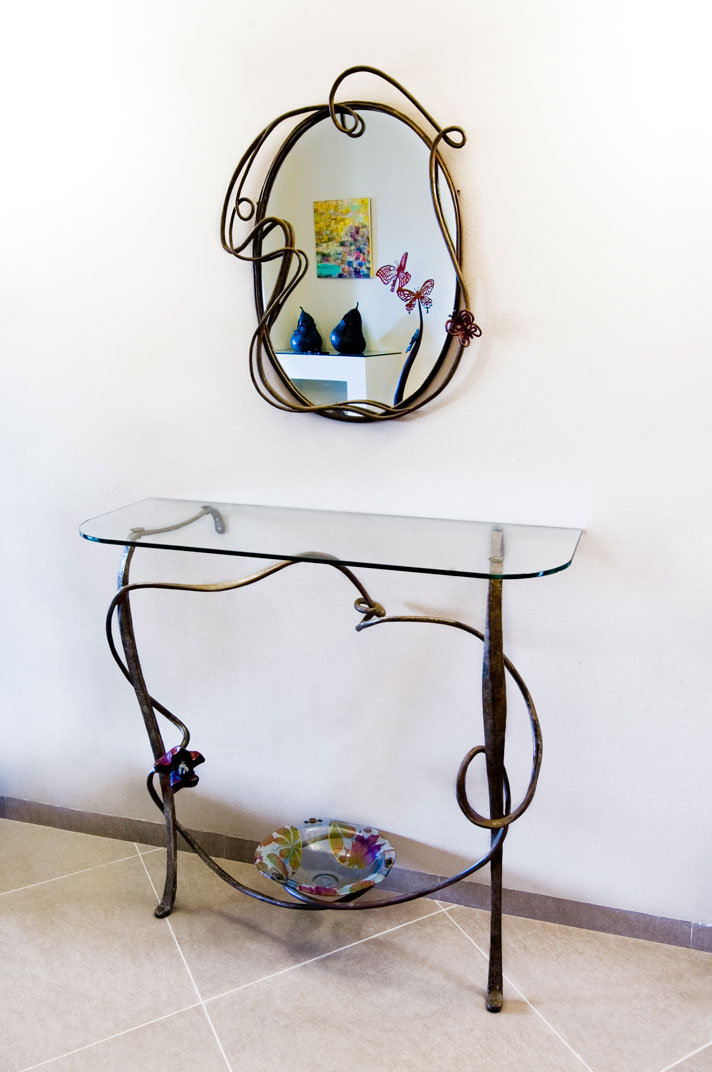 Shelf table & Mirror