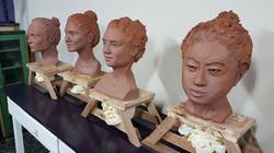 Curso de escultura com Ramon Alejandro