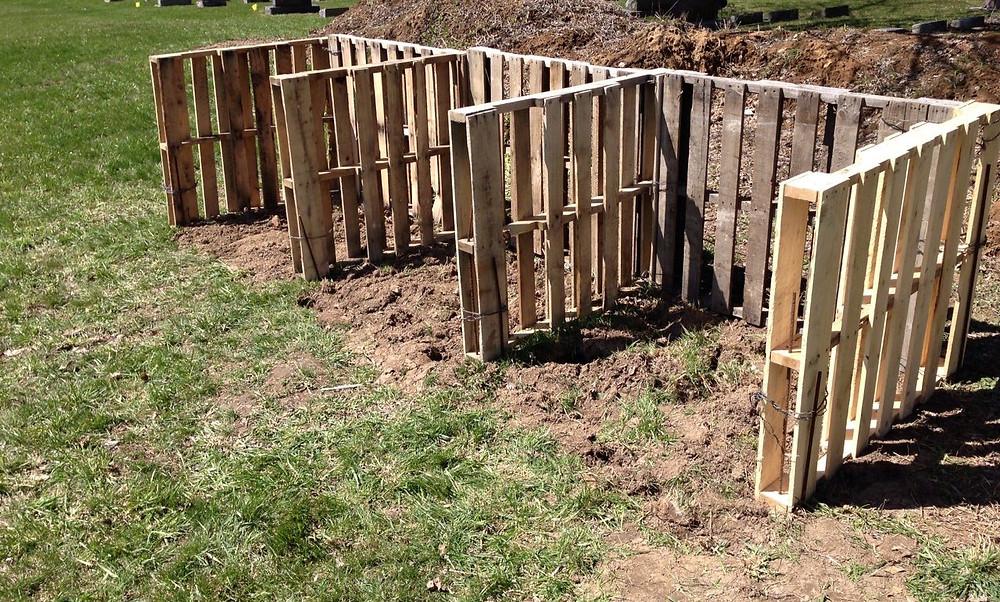 3 Bay Pallet Compost Bin
