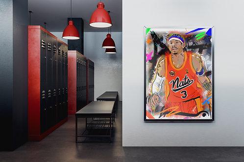 """Bubba Chuck"" Abstract Framed"