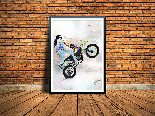 """Bike Life A Bmore Love Story"" Framed"