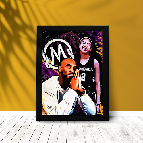"""Mortal Mamba"" Framed"