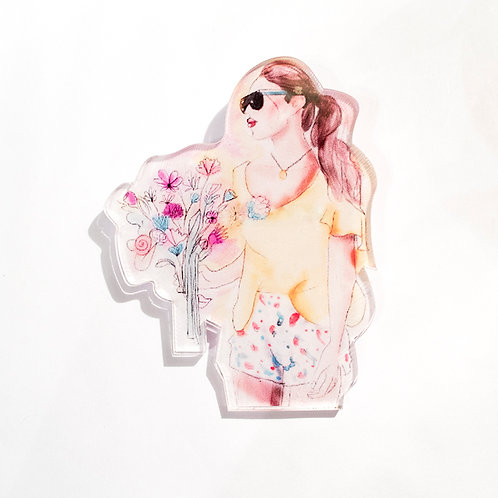 Pin Girl Flower