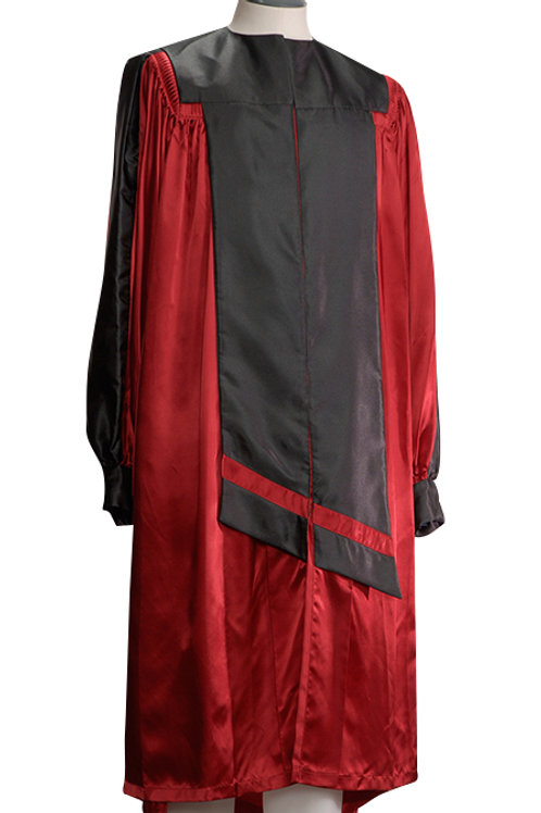 Red Satin With Black Contrast