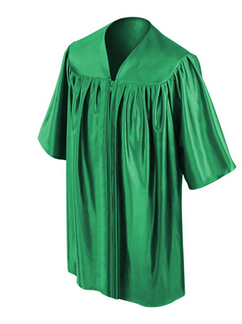 Green Shiny Child Graduation Gown