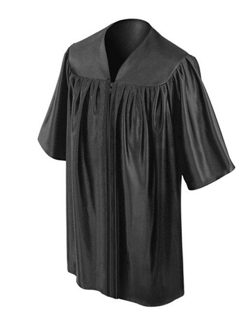 Black Shiny Child Graduation Gown