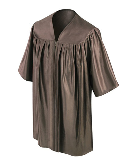 Brown Shiny Child Graduation Gown