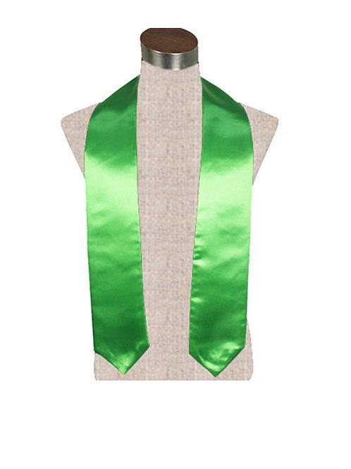 Green Satin Stole