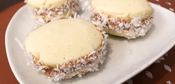 Alfajor de doce de leite e coco (LEITE)