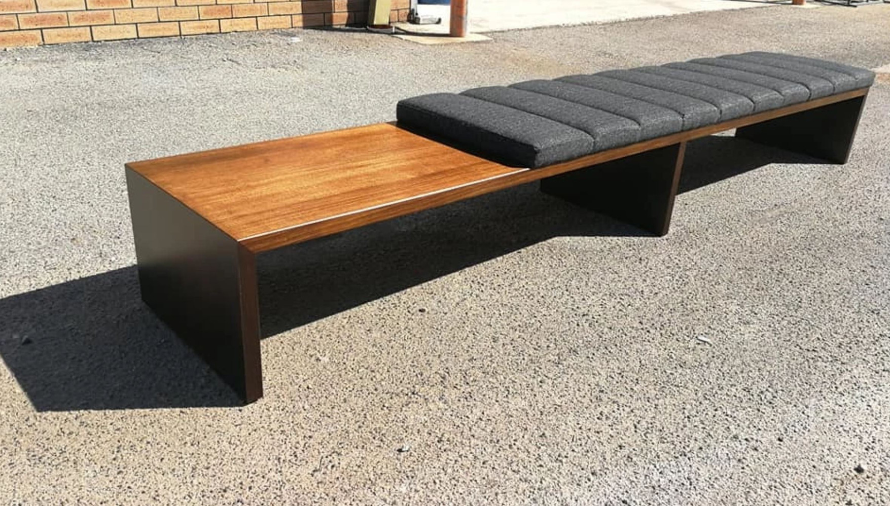 Solid timber ottoman